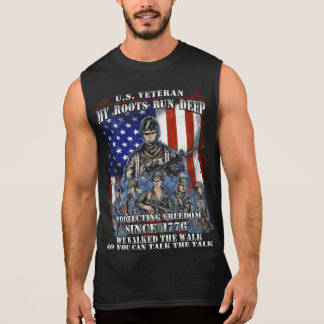 U.S Veteran My Roots Run Deep. Sleeveless Shirt