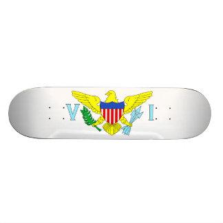 U.S. Virgin Islands 18.1 Cm Old School Skateboard Deck