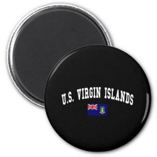U.S. VIRGIN ISLANDS 6 CM ROUND MAGNET