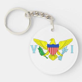 U.S. Virgin Islands Double-Sided Round Acrylic Key Ring