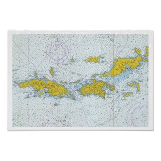 U.S. Virgin Islands nautical chart map