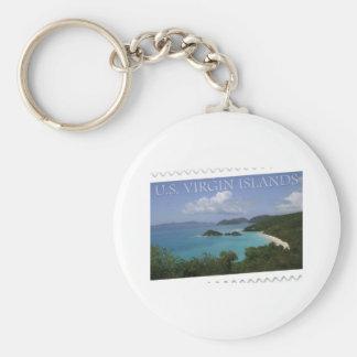 U.S. Virgin Islands - St. John's Trunk Bay Basic Round Button Key Ring