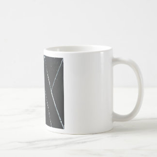 U-shaped Black Angular Curves (black minimalism) Basic White Mug