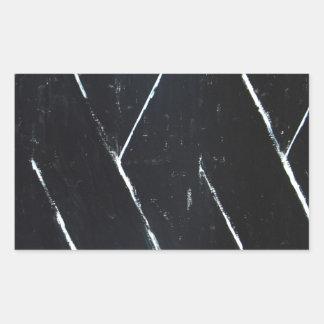 U-shaped Black Angular Curves (black minimalism) Rectangular Sticker