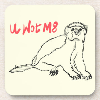 U Wot M8 Honey Badger Funny Animal Slogan Design Coaster