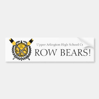 ua crew2, EST. 1993-2, ROW BEARS!, Upper Arling... Bumper Sticker