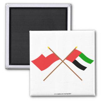 UAE and Abu Dhabi Crossed Flags Magnet