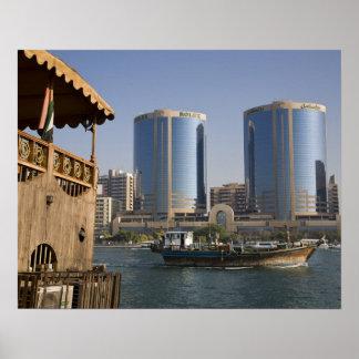 UAE, Dubai, Dubai Creek. Dhow cruises channel Poster