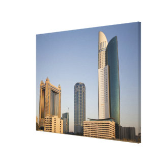 UAE, Dubai. Park Place Tower and other Stretched Canvas Prints