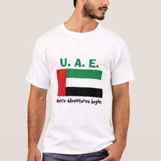 UAE Flag + Map + Text T-Shirt