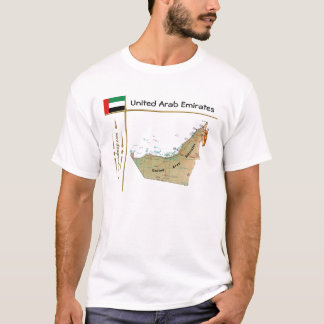 UAE Map + Flag + Title T-Shirt