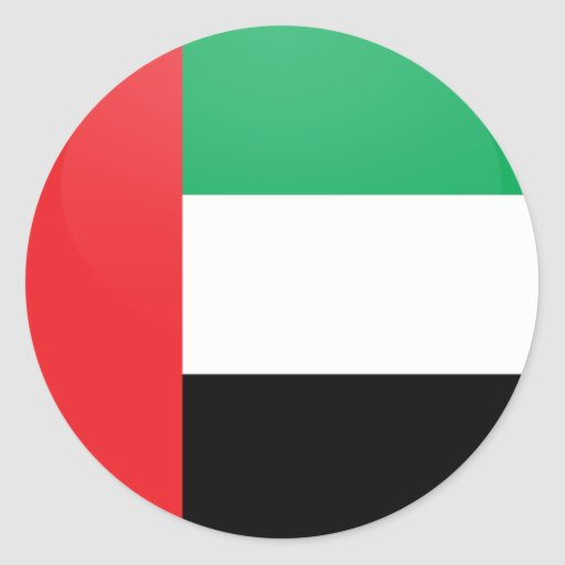 Uae quality Flag Circle Sticker