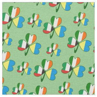 UAE UKraine Ireland Shamrock Fabric