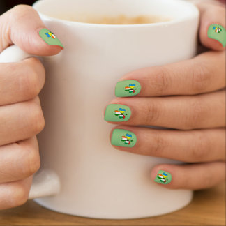 UAE Ukraine Ireland Shamrock Minx Nail Art