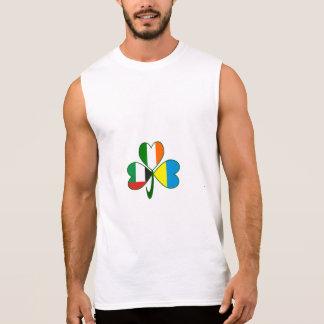 UAE Ukraine Ireland Shamrock Sleeveless Shirt