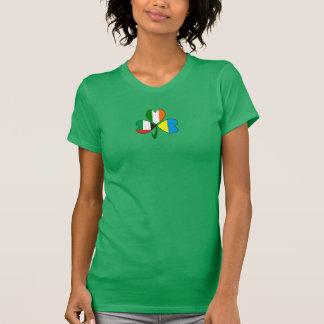 UAE Ukraine Ireland Shamrock T-Shirt