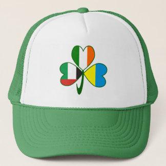 UAE Ukraine Ireland Shamrock Trucker Hat