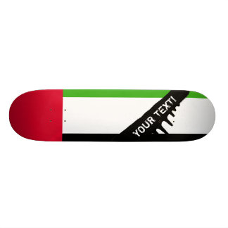 UAE United Arab Emirates Flag 20 Cm Skateboard Deck