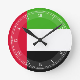 UAE United Arab Emirates Flag Clocks