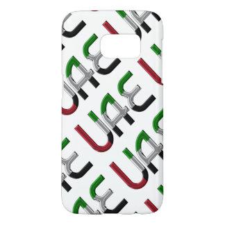 UAE United Arab Emirates Flag Colors Typography
