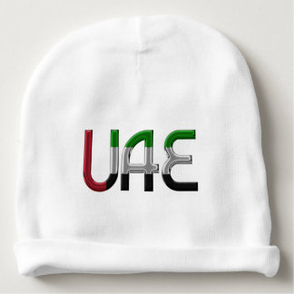 UAE United Arab Emirates Flag Colors Typography Baby Beanie