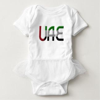 UAE United Arab Emirates Flag Colors Typography Baby Bodysuit