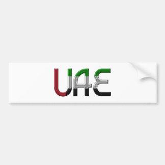 UAE United Arab Emirates Flag Colors Typography Bumper Sticker