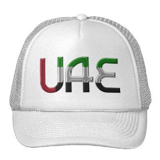UAE United Arab Emirates Flag Colors Typography Cap