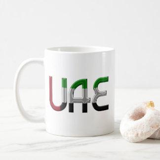 UAE United Arab Emirates Flag Colors Typography Coffee Mug