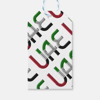 UAE United Arab Emirates Flag Colors Typography Gift Tags