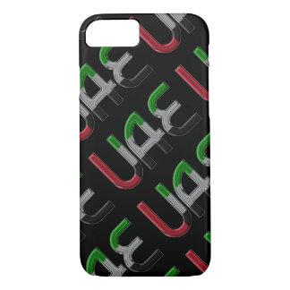 UAE United Arab Emirates Flag Colors Typography iPhone 8/7 Case