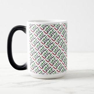 UAE United Arab Emirates Flag Colors Typography Magic Mug