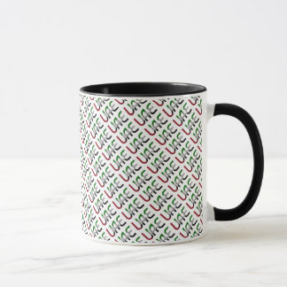 UAE United Arab Emirates Flag Colors Typography Mug