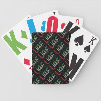 UAE United Arab Emirates Flag Colors Typography Poker Deck