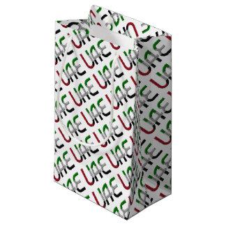 UAE United Arab Emirates Flag Colors Typography Small Gift Bag