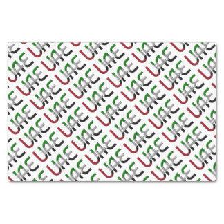 UAE United Arab Emirates Flag Colors Typography Tissue Paper