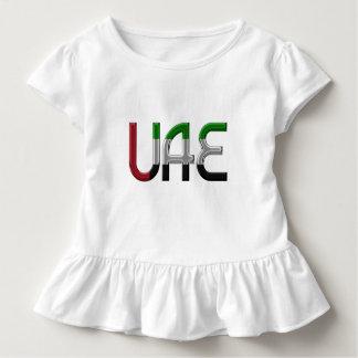 UAE United Arab Emirates Flag Colors Typography Toddler T-Shirt
