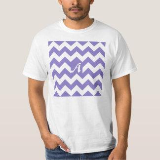 Ube and White Zigzag Monogram Shirts