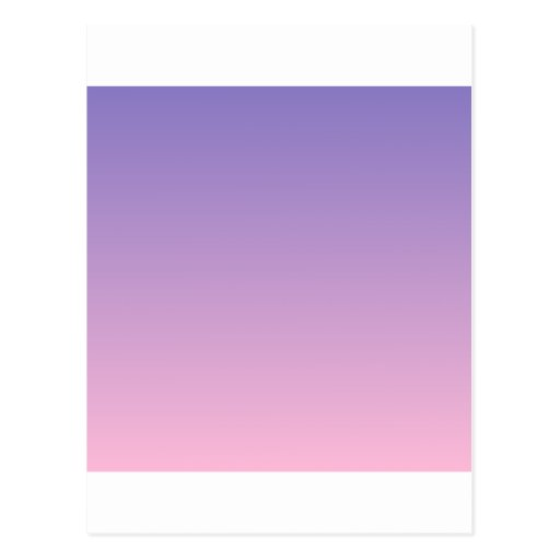 Ube to Cotton Candy Horizontal Gradient Post Card