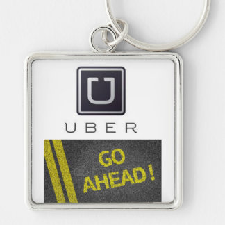 uber carries key Silver-Colored square key ring