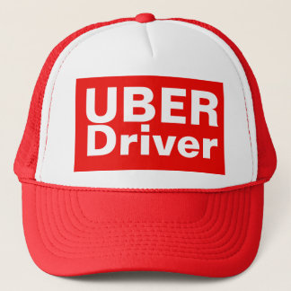 UBER Driver Baseball Cap Truckers Hat RED