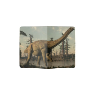 Uberabatitan dinosaur in the lake - 3D render Passport Holder