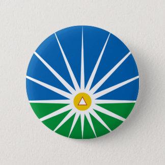 Uberlandia Minasgerais Brasil, Brazil flag 6 Cm Round Badge
