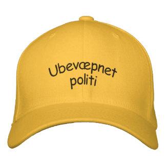 Ubevæpnet politi, unarmed police in Norwegian Embroidered Cap
