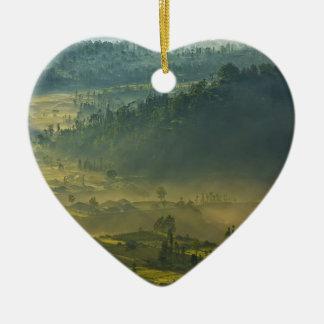 Ubud Village Ceramic Heart Decoration