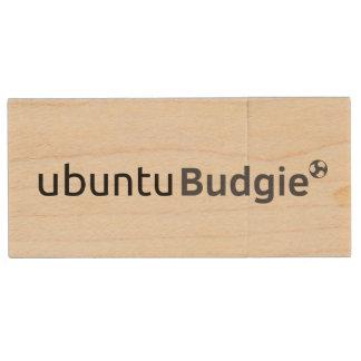 Ubuntu Budgie USB PenDrive Wood USB Flash Drive