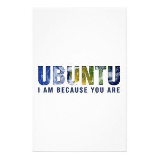 Ubuntu - I am because you are Stationery