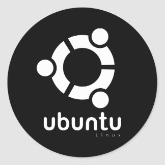 Ubuntu Linux Open Source Round Stickers