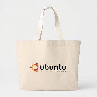 Ubuntu Linux Open Source Jumbo Tote Bag