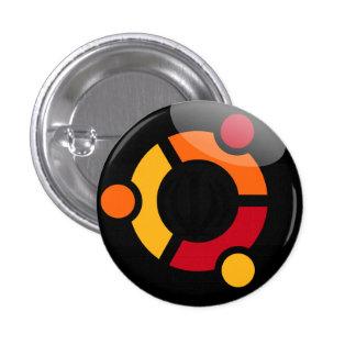 Ubuntu Linux swipes in 3 Cm Round Badge